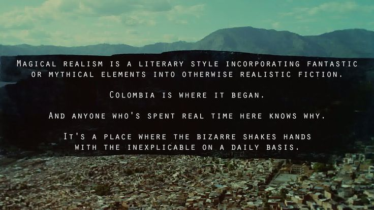Magical realism quote from 2x10:narcos