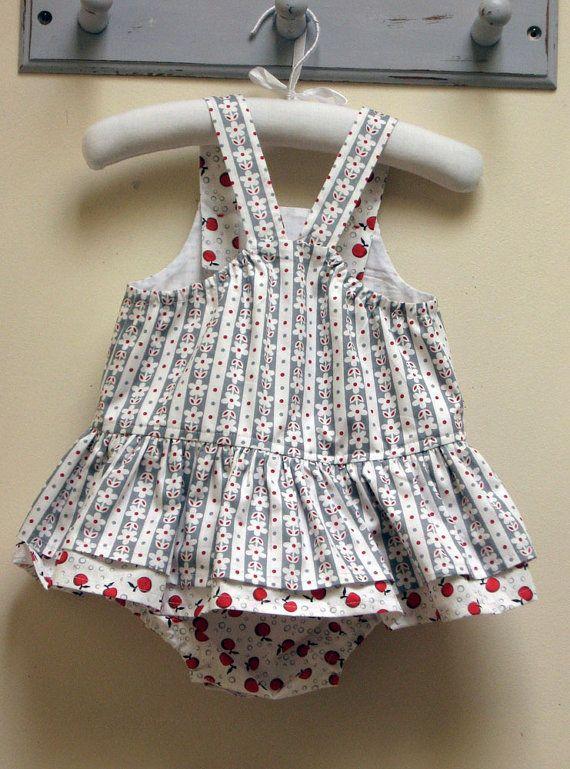 Romper sewing pattern, baby girls romper pdf sewing pattern TINKERBELLE ROMPER…
