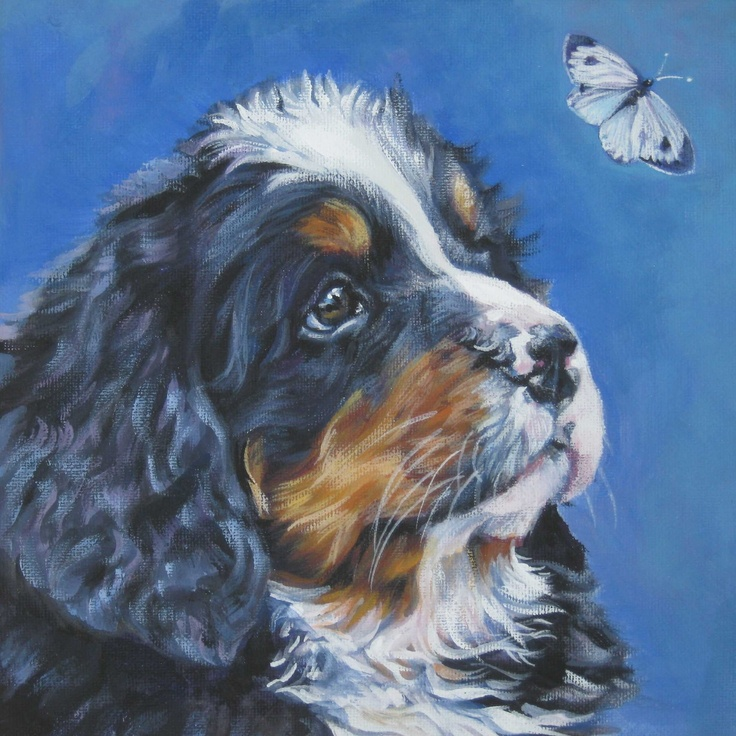 55 best images about berner sennen on pinterest kiss for Dog painting artist