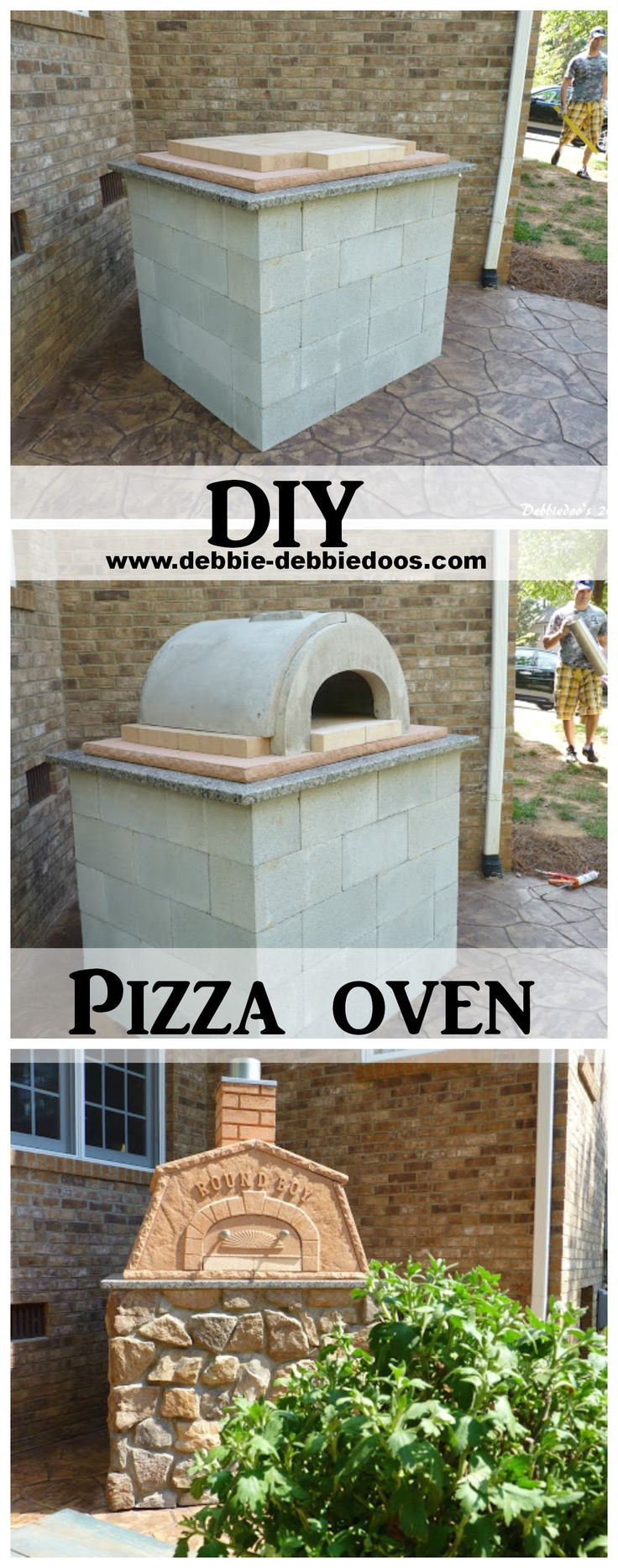 Make your own outdoor pizza oven! DIY pizza oven tutorial! #Diy #pizzaoven #roundboy