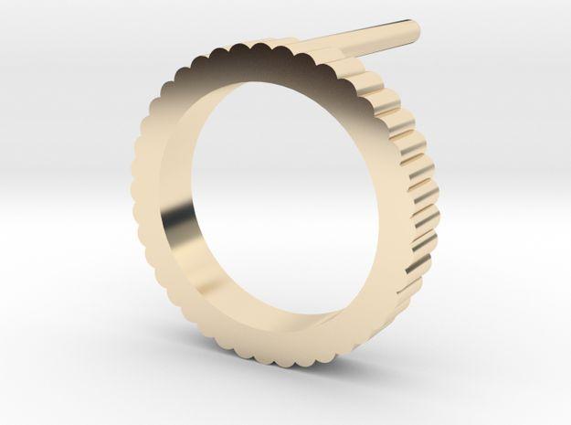 """Spinning Gear / Ingranaggi"" Collection - Stud Earring Diam 1,1cm 3d printed #earrings #ingranaggi #jewelry #jewellery #design #vdesignlab #italian"
