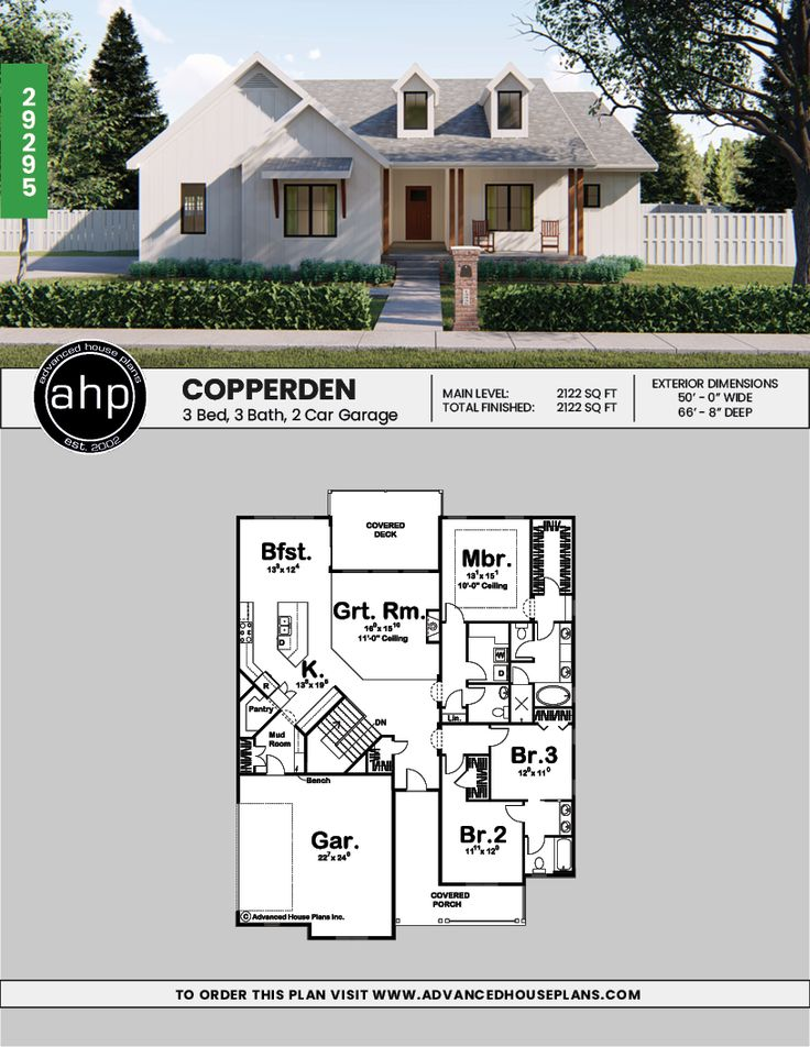 Copperden 1 story modern farmhouse house plan with images