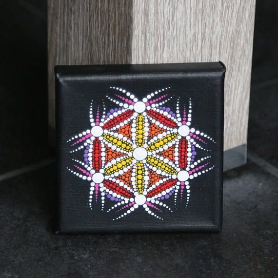 Painting canvas wooden frame mandal