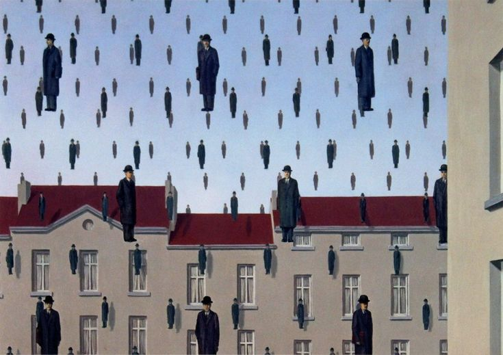 Golconda, 1953 by Rene Magritte #magritte #paintings #art