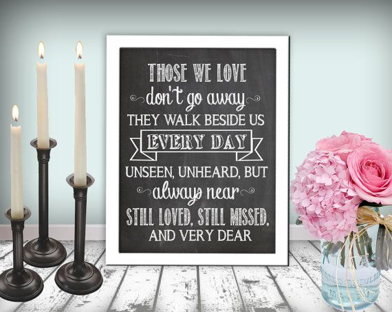 Wedding In Memory Of Sign Those We Love Sign by justforkeeps, $10.00