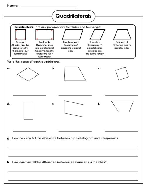 practice quadrilaterals for free with this fun worksheet and answer key. Black Bedroom Furniture Sets. Home Design Ideas