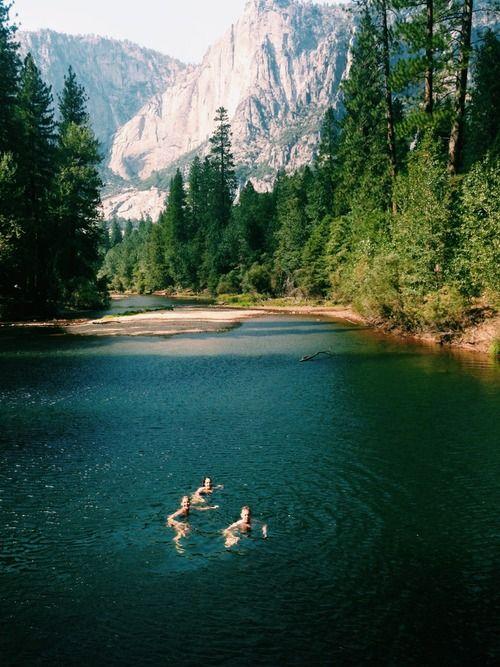 ✖ Swimming at Yosemite.