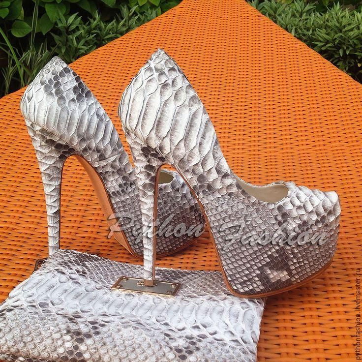 Купить Вечерние туфли из кожи питона STAR - кожа питона, из питона, из кожи питона, питон