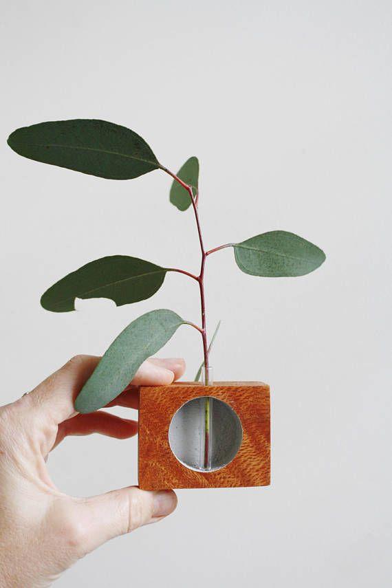 Handmade vase minimalist wooden vase reclaimed wood
