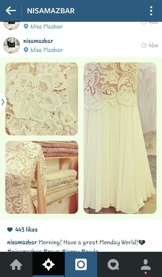Nisa mazbar : prada lace dress