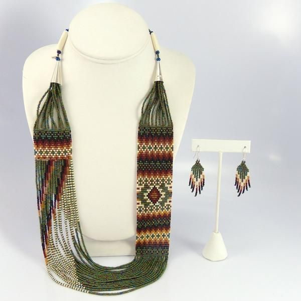 Beaded Necklace and Earring Set - Jewelry - Rena Charles - 1