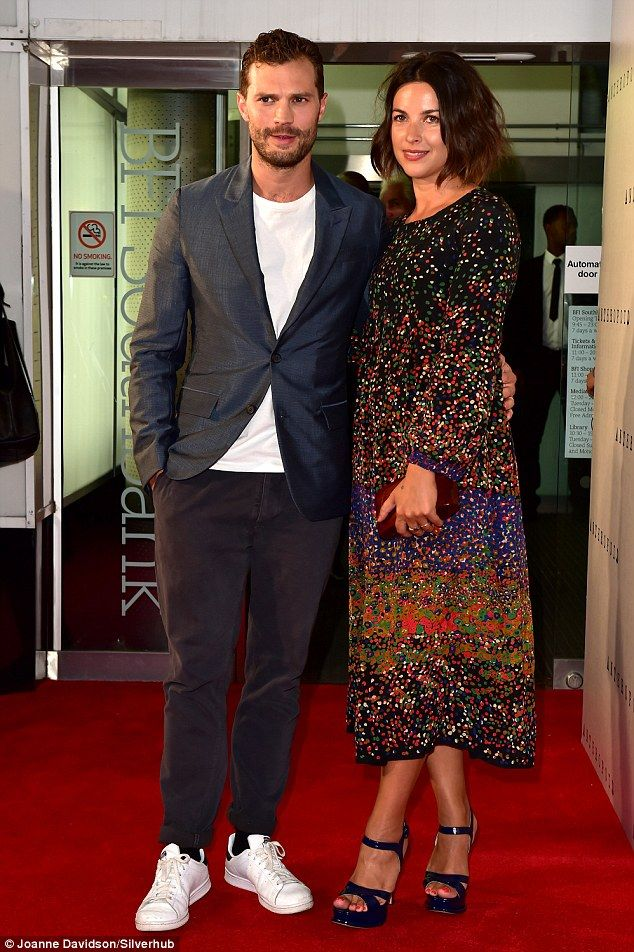 Date night: Jamie Dornan and wife Amelia Warner made their first public appearance together since they had their newborn nearly six months ago on Tuesday