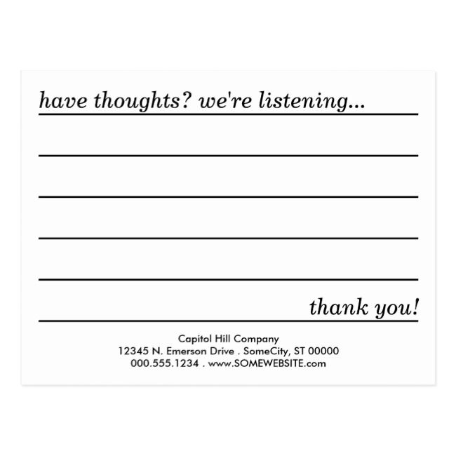 Comment Card Zazzle Com Card Template Card Templates Printable Templates