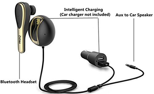 ZJchao Wireless Bluetooth 4.1 Headset for Car Hands Free Driving Coming with Magnetic Charging Dock 3.5mm Aux Input Jack and USB Charging Cord  Differ with other handsfree kits, our bluetooth handsfree kit is featured with a bluetooth headset, which provides you flexible answering choices. You could answer calls via the audio system of your car directly, or pick up the headset to talk privately.     Features:     – Utilizes latest Bluetooth 4.1 technology(fully backward compatible) f..