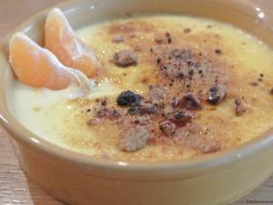 Crème brûlée parfumée aux clémentines • Hellocoton.fr