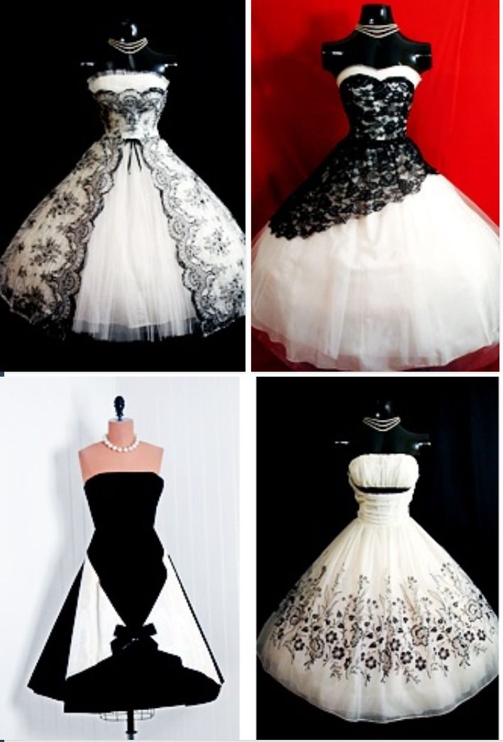 Black And White Party Dresses Masquerade