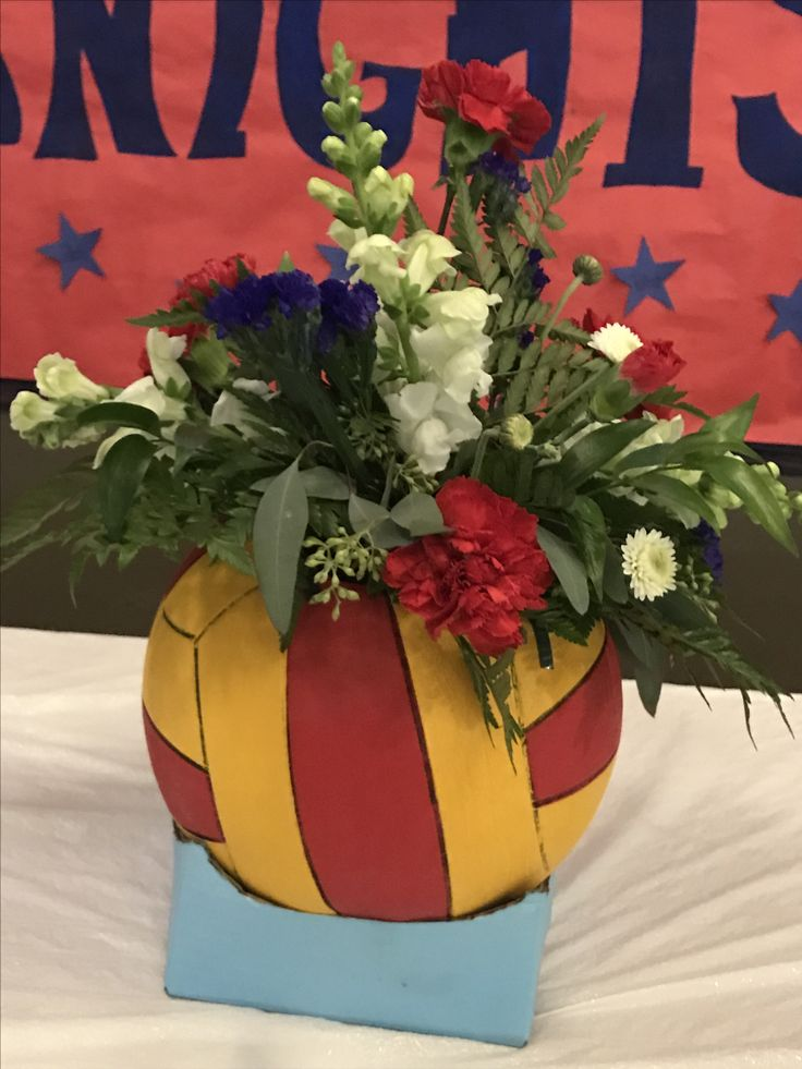 Water polo banquet centerpiece