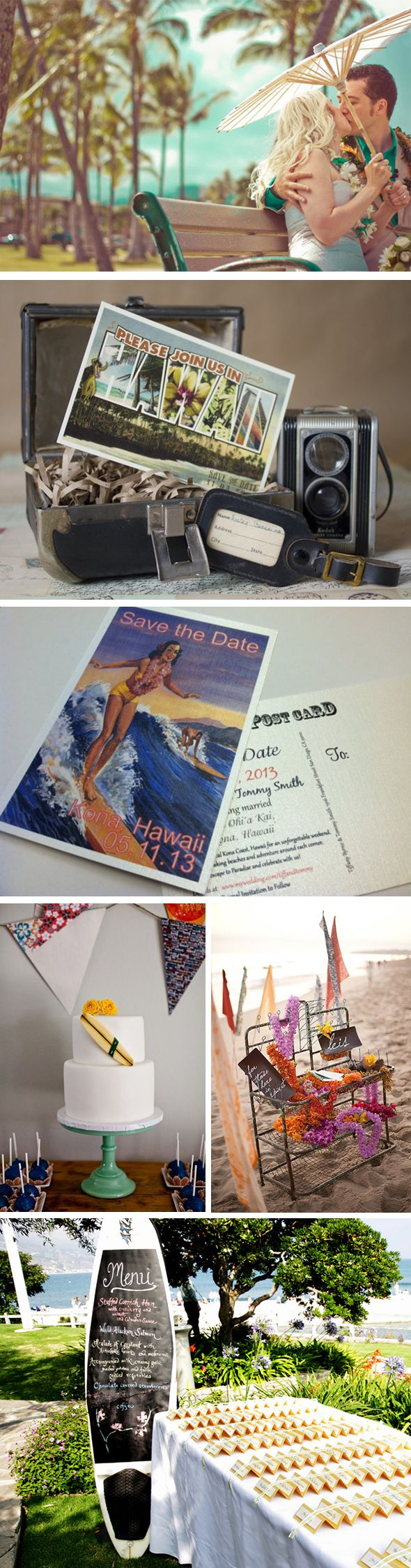 vintage hawaii wedding Retro Hawaiian Themed Weddings