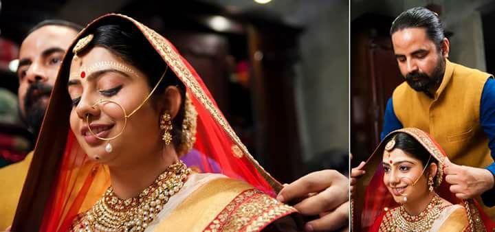 Bride getting ready, sabyasachi, designer, band baajaa bride the show, Indian wedding