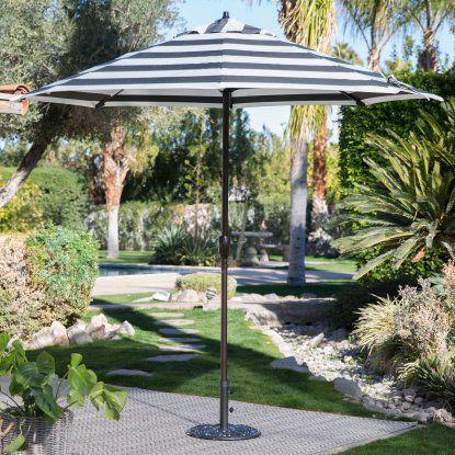Coral Coast 9-ft. Olefin Fashion Patio Umbrella with Crank and Tilt