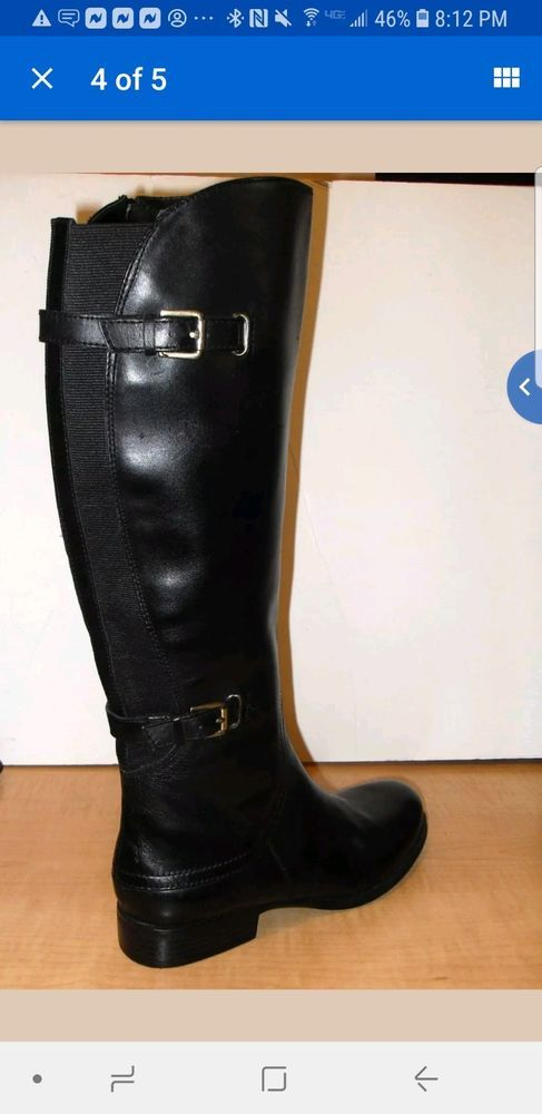 8b0619f1753 womens knee high leather boots size 7 black  fashion  clothing  shoes   accessories  womensshoes  boots (ebay link)