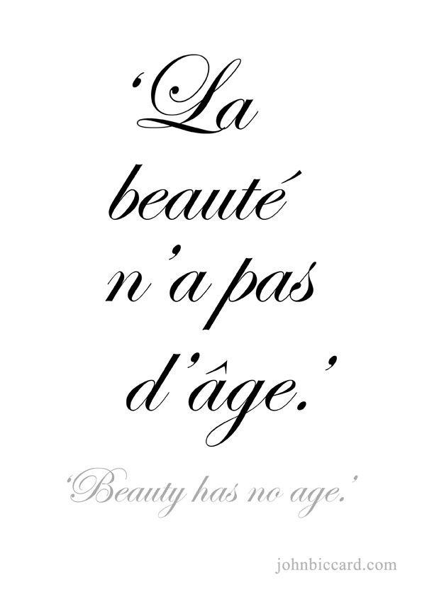 ♔ 'Beauty has no age.'                                                                                                                                                                                 More