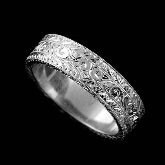 Platinum Double Milgrain 6mm Wide Flat Wedding Band Ring: Best 25+ Wide Wedding Bands Ideas On Pinterest