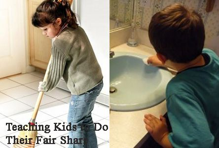 Teaching kids to do age appropriate chores