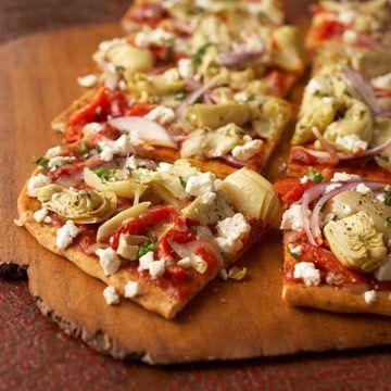 We love our Mediterranean Pepper and Artichoke Pizza! Get the recipe here: http://www.bhg.com/recipe/pizza/mediterranean-pepper-and-artichoke-pizza/?socsrc=bhg050612MediterraneanPepper