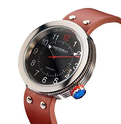 Chotovelli Gauge 8000 Watch Silver/Black JTS8000-1 Manometro Homage