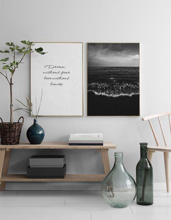 Black Water Poster In Der Gruppe Poster Grossen Und Formate 50x70cm Bei Desenio Ab Minimalistische Einrichtung Minimalistische Dekoration Innenraumfarben