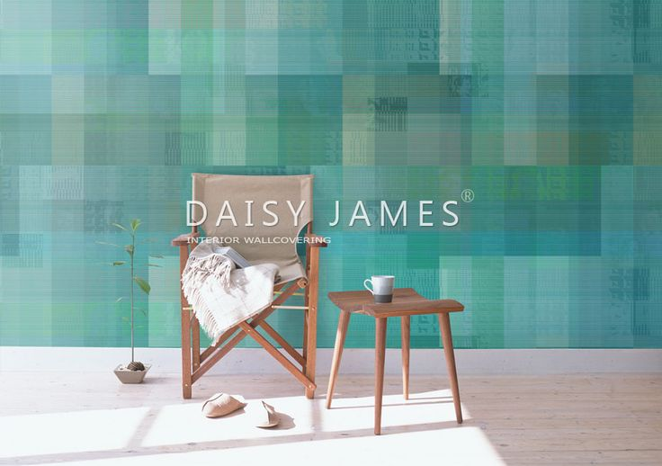 """DAISY JAMES wallcover """"The Green Palette"""" #interiordesign #Luxuryhouses #officedesign"""