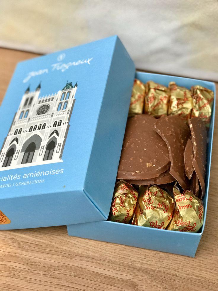 Macarons d'Amiens et ses tuiles en chocolat de Jean Trogneux