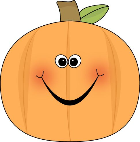 Cute Pumpkin Clip Art | Cute Pumpkin Clip Art Image - cute pumpkin with a happy face and rosy ...