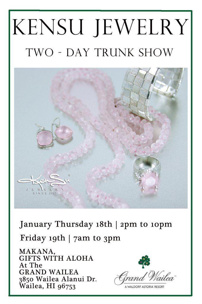 """KenSu Jewelry Maui @ the Grand Wailea Resort """"Makana Gifts with Aloha"""""""