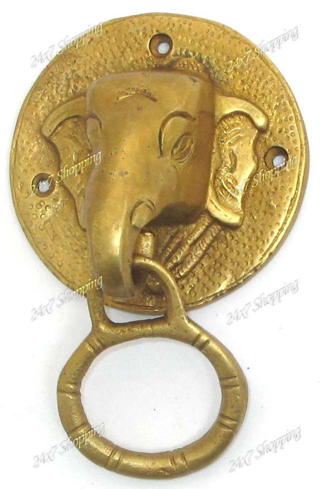 1000 images about elephants doorknokers handles on pinterest elephant face door handles - Brass elephant door knocker ...