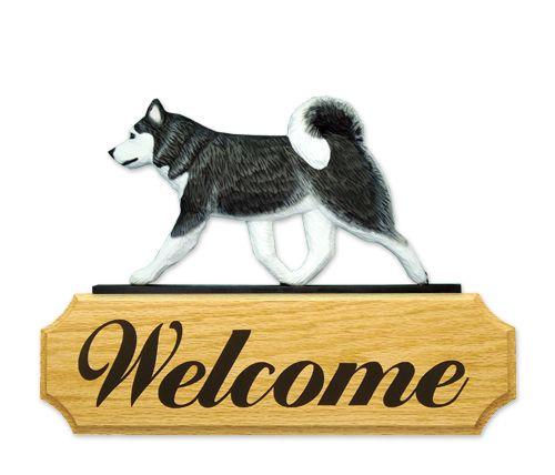 Alaskan malamute welcome sign   www.pawsawhile.com.au