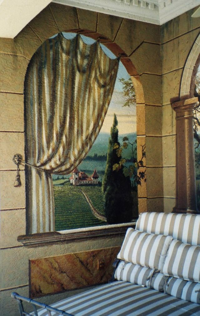 Italian Vineyard (left End Wall). Find This Pin And More On Trompe Lu0027oeil  Murals ... Amazing Pictures