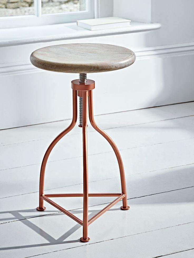 NEW Elegant Twist Stool - Copper