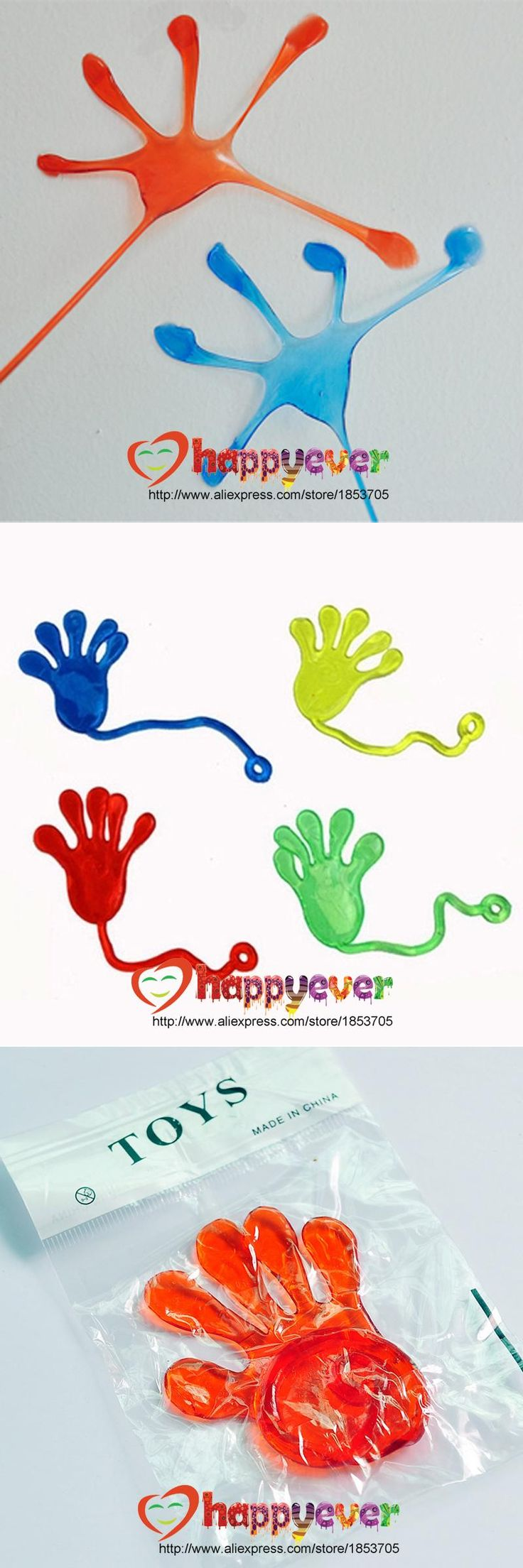 Felizever 12 Pcs Sticky Hands and Feet Kids Birthday Party Favors Supplies Carnival Prize Pinata Fillers Kids Toy Gift
