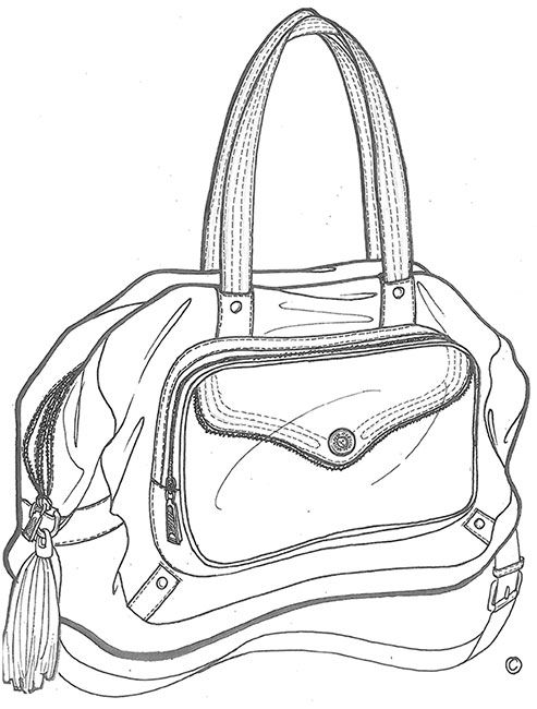 Simple 122 Best Images About Bag Sketches On Pinterest  Fashion