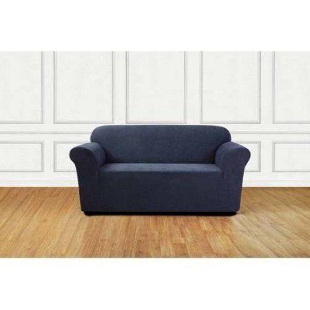 Sofa Slipcovers Sure Fit Utimate Stretch Chenille Piece Loveseat Slipcover Gray