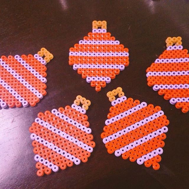 Christmas ornaments hama beads by lottabacklund