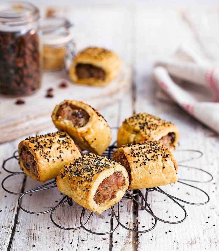 It's hard to beat a sausage roll especially when they come with a festive twist. This recipe from Peter Sidwell uses sage, raisins and mustard for Christmassy flavour.