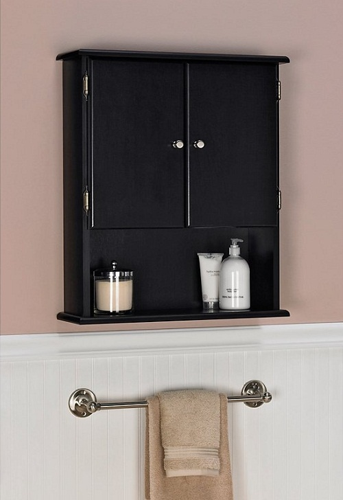 Bathroom wall cabinets espresso idea remove our old medicine cabinet and put this above the for Espresso bathroom medicine cabinet