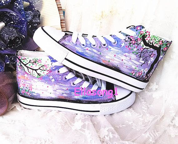 Galaxy Converse Custom ShoesHand Painted ShoesCustom by ellasong1