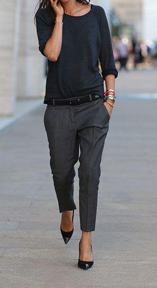 Grey pants 7/8 Black sweat
