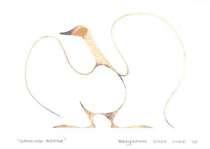 Dancing Goose - Benjamin Chee Chee,  Inuit artist