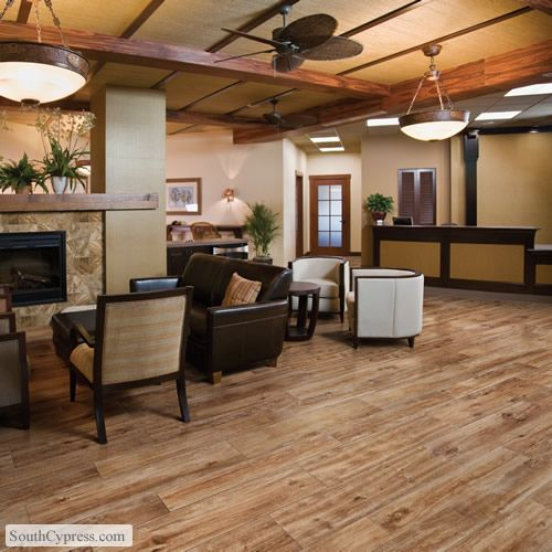 American heritage natural featured on the hand scraped wood look tile page from south cypress - South cypress wood tile ...