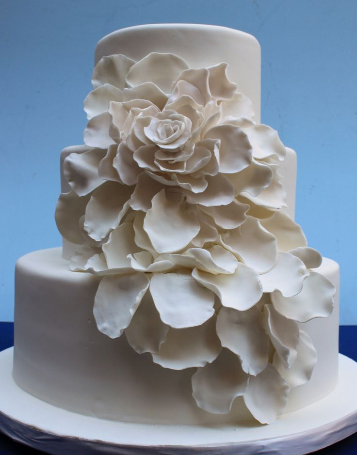 Flower Petals Wedding Cake